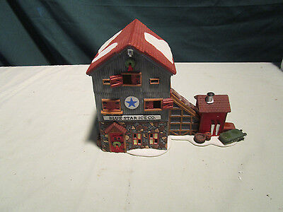 Department  56 New England village series blue star ice company