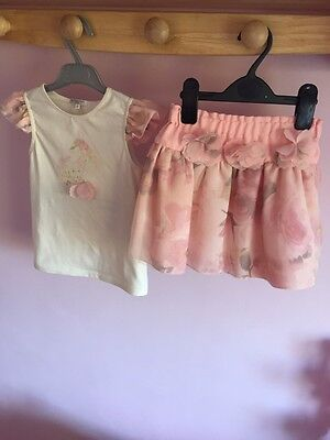 BNWOT Butterscotch Age 6 Skirt And Top Set With Corsage Detail Gorgeous