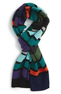 NEW Paul Smith Stripe Wool Scarf Made In Scotland