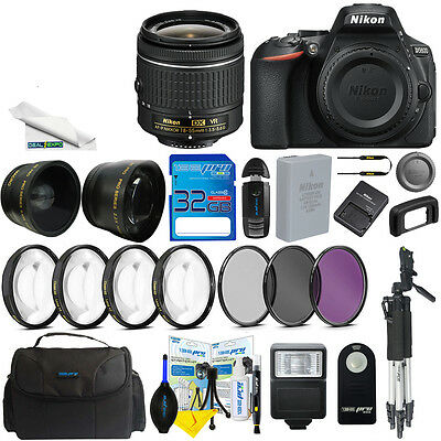 Nikon D5600 DSLR Camera with 18-55mm Lens + Expo-Advanced Accessory Bundle