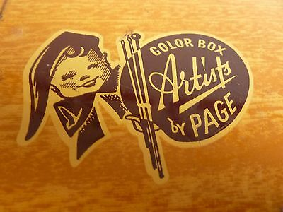 Vintage Artist's colour box / paintbox by Page London – made in England