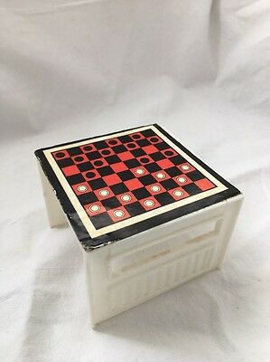 Vintage Barbie Country Living House CHECKERS Game TABLE