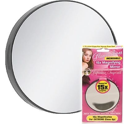 15X  Magnifying Eye Make Up Mirror With Suction  Lashes Eyebrows Magnification