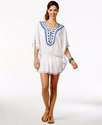 2d5ffe6ca3a39 RAVIYA EMBROIDERED TUNIC Swimsuit Cover Up White Size Medium ...