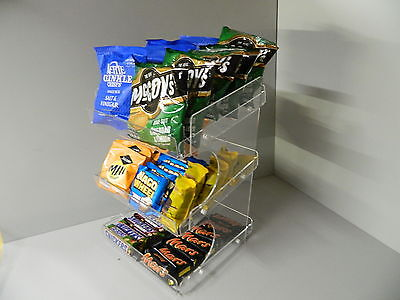 chocolate bar, crisps & confectionery 3 tier counter display ( impulse buys )