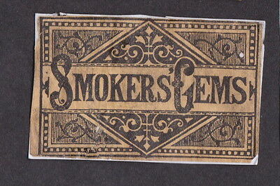 AE Old  Matchbox label   England   LLL14 Smokers Gems