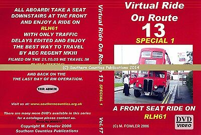 Vol.17 Virtual Ride On Route 13 with RLH61 Bus Transport DVD