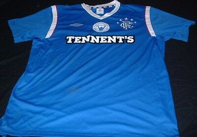 Glasgow Rangers Scotland Football XL Extra Large Mans RFC Fighting Fund Jersey