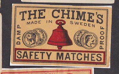 AE Old  Matchbox label  Sweden   LLL24 The Chime's Bell