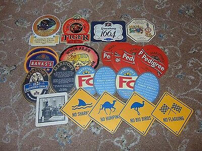 34 assorted Beer mats, some rare, some not, most new.
