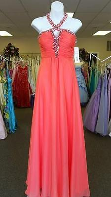 Tiffany Prom Dress-Coral-Size 8