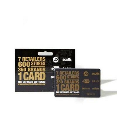 JD Sports £100 (4 X £25) Gift Cards Gift Vouchers