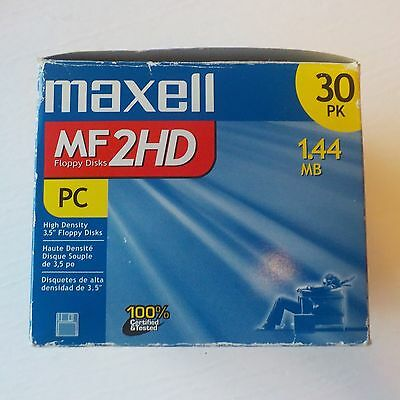 "Maxell 3.5"" MF 2HD Floppy Disk 1.44MB 30 Pack"