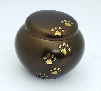 "Pet Urn for Ashes Dog Cat Paw Cremation Memorial 3"" & 5"" REDUCED MINOR SCRATCHES"