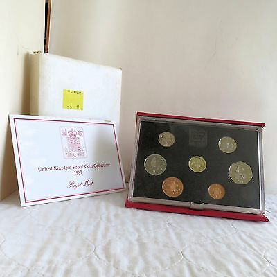 1987 ROYAL MINT DELUXE PROOF SET - boxed/coa/outer