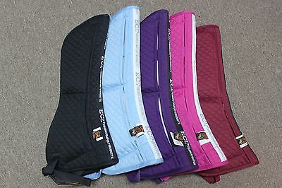 NEW ECP Cotton Correction Half Pad w/Memory Foam Inserts - Purple, Pink, Maroon