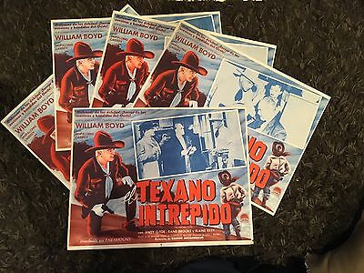 William Boyd as Hopalong Cassidy FIGHTING TEXAN set of 5 Mexican LCs R50s