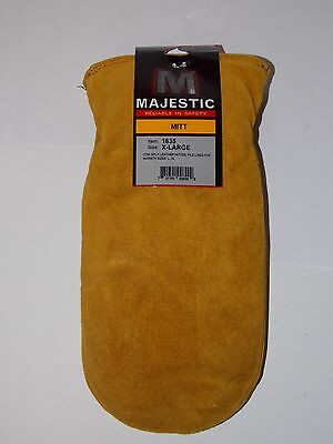 Majestic 1635 Pile Lined Leather Chopper Mittens Men's Size Xlarge