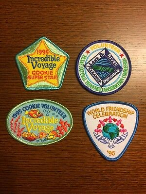New -- Vintage Girl Scout Patches (1995) Lot Of Four