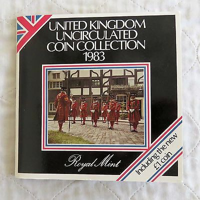 1983 ROYAL MINT 8 COIN BEEFEATER UNCIRCULATED SET - sealed pack