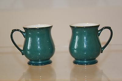 Denby - Greenwich - Craftsman Shape Coffee Mug . 2 available.  Green