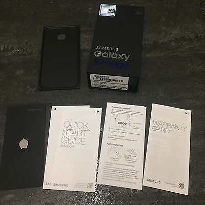 Genuine Samsung Galaxy S7 Edge 32GB Black Onyx Box And Manuals Only.