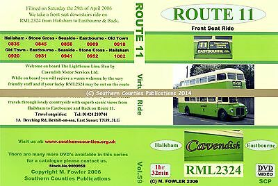 Vol.59 Route 11 Hailsham to Eastbourne Old Town and Return Bus Transport DVD