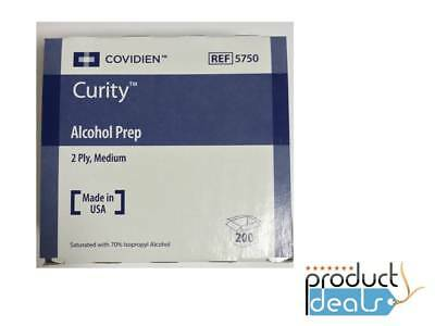 Kendall 5750 Curity Covidien Alcohol Prep-Pads Medium Sterile 200/bag 4000/case