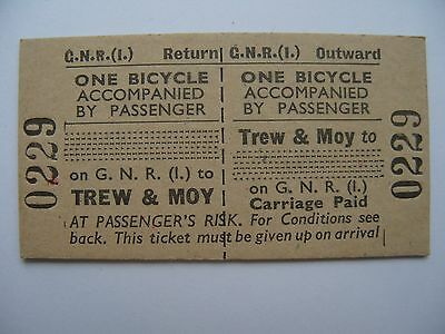 BICYCLE Ticket Great Northern Railway Ireland GNR I  Trew & Moy - .
