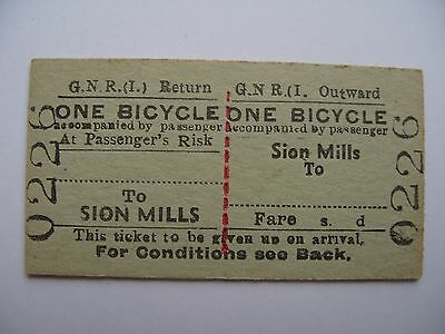 BICYCLE Ticket Great Northern Railway Ireland GNR I  Sion Mills