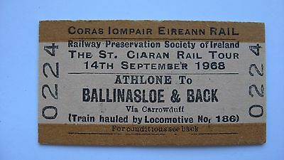 Old Ticket CIE Rail Railway Preservation Society of Ireland St. Ciaran Tour 1968
