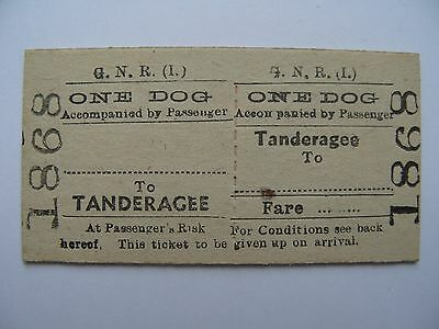 ONE DOG Ticket Great Northern Railway Ireland GNR I Tandragee