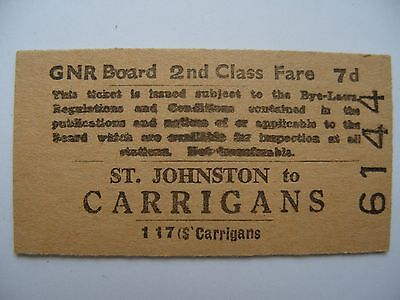 GNR I Great Northern Railway Ireland Ticket St. Johnston - Carrigans 2nd class