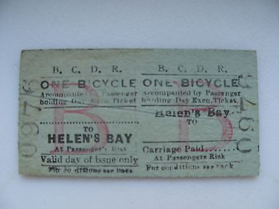 *RARE* Belfast County Down Railway BCDR Helen's Bay - (Bicycle)