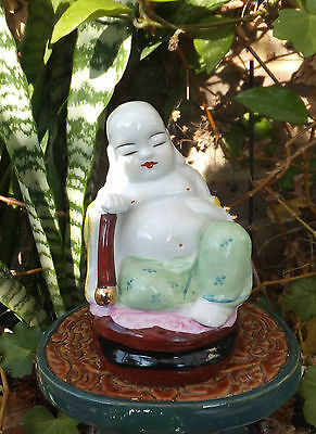 Antique Qing Dynasty Fat Happy Sleeping Buddha Chinese Peace Happiness Meditate