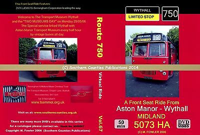 Vol.67 Route 750 Aston Manor to Wythall Bus Transport DVD