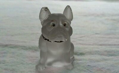Vintage westmore glass frosted bulldog figurine