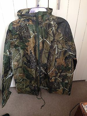 Realtree Camo Waterproof Jacket Shooting Carp Fishing Hunting New Size Large