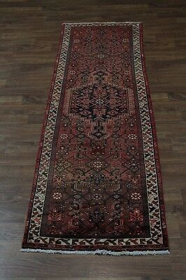 Nice Geometric Hallway S Antique Hamedan Persian Rug Oriental Area Carpet 3X10