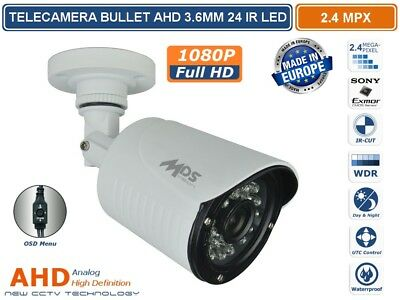 TELECAMERA IBRIDA BULLET 4 IN 1 3.6mm 36 IR LED 2000TVL 1080P 2.1MPX 1920X1080