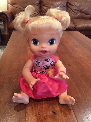 Baby Alive My Baby All Gone 2013 Interactive Works Great Blonde Talks Pees Wets