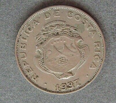 1937 Costa Rica  25 Cent Coin