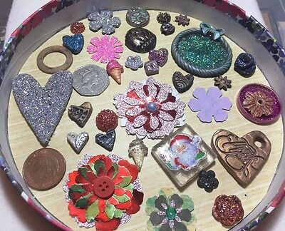 Joblot Card And Fimo Clay Embellishments Clearance Jewellery Findings Lot @G