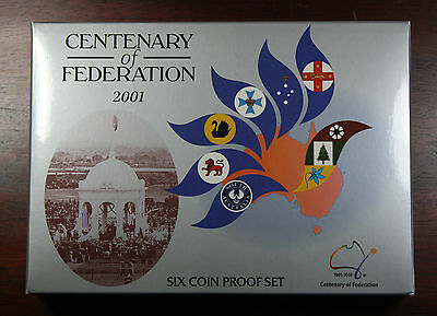 2001 Centenary of Federation 6 coin Proof Set.....Royal Australian Mint