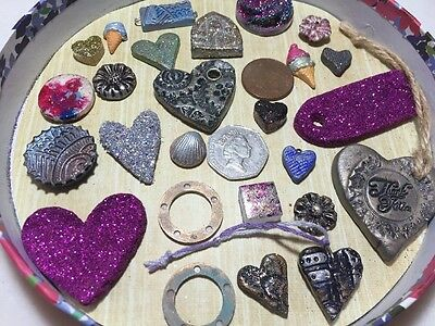 Joblot Card And Fimo Clay Embellishments Clearance Jewellery Findings Lot V