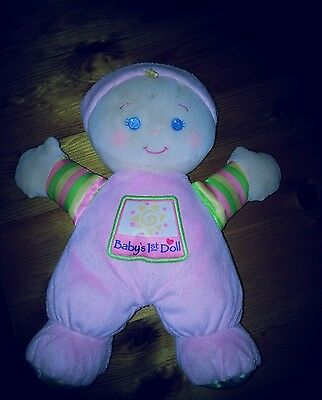 FISHER PRICE Pink Baby's 1st Doll Comforter Soft Toy Rattle