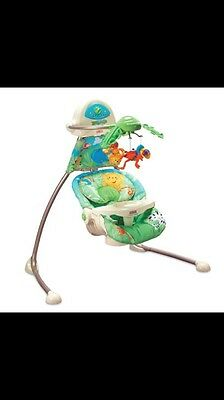 Fisher price Rainforest Open Top Cradle Swing With Mobile