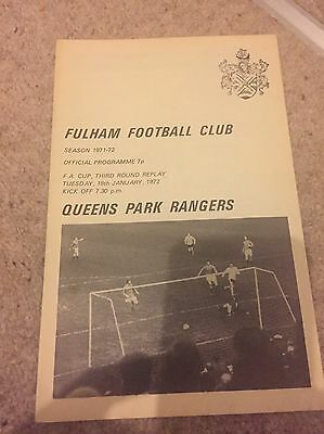 Fulham V QPR 1972 FA Cup 3rd Round Replay