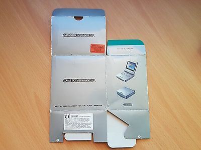 Game Boy Advance SP Silver Console Box ONLY UKV #4