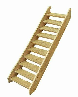 Ezi-Step Timber Stair Kit 10 Step Pine Decks House External Easy Assembly Wooden